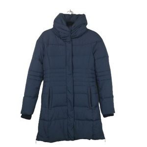 Elie Tahari Down Filled Puffer Coat in Deep Blue